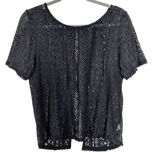 4for$20 AEO top M open weave cotton blend